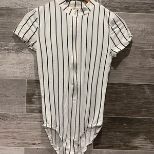 Heart and hips Stripped Bodysuit Size Small